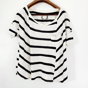 Anthropologie Postage Stamp striped Top M